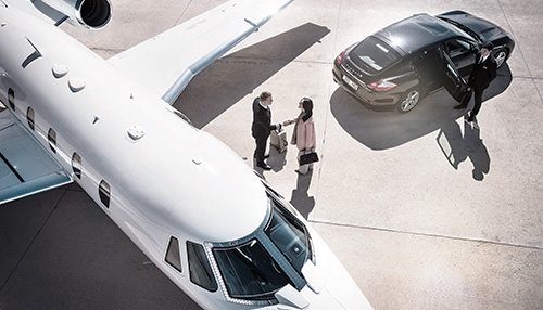 Jato executivo hangaragem planejamento de voo IFR